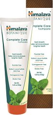 Himalaya Botanique Complete Care Toothpaste - Simply Mint - Паста за зъби за цялостна грижа с нийм, нар и мента - ножичка