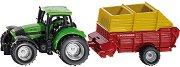 """Трактор с ремарке за товар - Deutz - Метална играчка от серията """"Super: Agriculture"""" - играчка"""