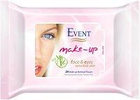 Event Make-Up Removal Wet Wipes - Мокри кърпички за почистване на грим с екстракт от бамбук за чувствителна кожа -