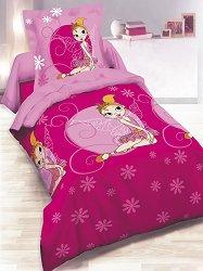 Бебешки спален комплект от 3 части - Принцеси - 100% ранфорс за матрак с размери 60 x 120 cm -