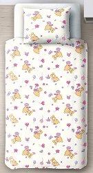 Спален комплект за бебешко креватче - Мечета - 3 части -
