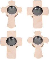 Поставки за чаени свещички - Кръстчета