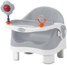 Спомагателно столче за хранене - Pixi: Grey & White -