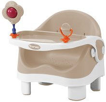 Спомагателно столче за хранене - Pixi: Beige & White -