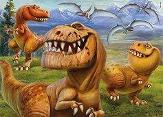 Добрият динозавър - Двулицев пъзел - пъзел