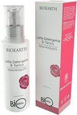 """Bioearth Bioprotettiva Rosa Mosqueta Latte Detergento & Tonico - Почистващо мляко и тоник за лице 2 в 1 с био шипково масло от серията """"Bioprotettiva"""" - спирала"""