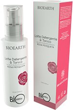 "Bioearth Bioprotettiva Rosa Mosqueta Latte Detergento & Tonico - Почистващо мляко и тоник за лице 2 в 1 с био шипково масло от серията ""Bioprotettiva"" - олио"