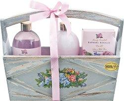 Raphael Rosalee Flowers No.88 - Подаръчен комплект с козметика за тяло с аромат на роза - четка
