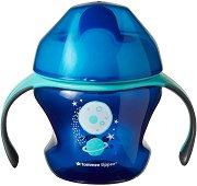 """Неразливаща се чаша с мек накрайник и дръжки - First Cup 150 ml - За бебета над 4 месеца от серия """"Explora"""" - чаша"""