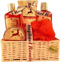 Raphael Rosalee No.162 - Подаръчен комплект с козметика за тяло с аромат на канела и ванилия - душ гел