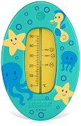 Зелен термометър за баня - Подводен свят -