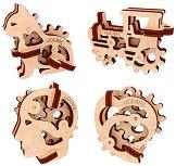 Ключодържатели - Трибики - Комплект от 4 механчини 3D пъзела -