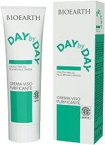 """Bioearth Day by Day Crema Viso Purificante - Крем за лице за мазна кожа, склонна към акне от серията """"Day by Day"""" - продукт"""
