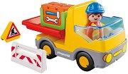"""Строителна машина - Детски конструктор от серията """"Playmobil: 1.2.3"""" - играчка"""