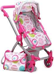 Количка за кукли - Pink Rose - Детска играчка - раница