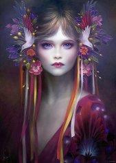 Красива в розово - Мелани Делон (Melanie Delon) - пъзел