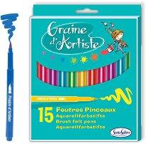 Флумастери - Graine d'Artiste - Комплект от 15 броя