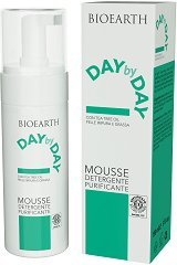 "Bioearth Day by Day Mousse Detergente Purificante - Почистваща пяна за лице за мазна кожа, склонна към акне от серията ""Day by Day"" - гел"