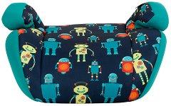 Детско столче за кола - Jazzy: Blue Robots - За деца от 15 до 36 kg - столче за кола