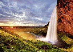 """Водопадът Селяландсфос, Исландия - Колекция """"Александър Фон Хумболт"""" (Alexander von Humboldt) - пъзел"""