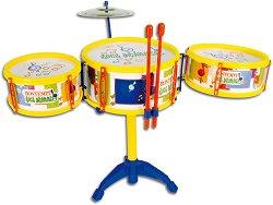 Комплект барабани на стойка - Детски музикален инструмент -