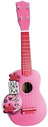 Дървено укулеле с 4 струни - Детски музикален инструмент -
