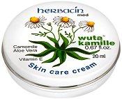 """Herbacin Med Wuta Kamille Skin Care Cream - Хидратиращ крем за лице с лайка, алое вера и витамини от серията """"Med"""" - шампоан"""