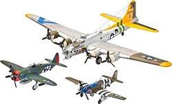 Военни самолети - U.S. Legends: 8th Air Force - Три сглобяеми авиомодела - комплект с лепило и боички -