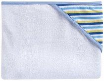 Хавлия за баня - Сини райета - Размер 80 x 95 cm -
