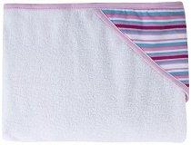 Хавлия за баня - Розови райета - Размер 80 x 95 cm -
