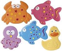 Подложки за баня - Colorful Оcean - Комплект от 5 броя - продукт