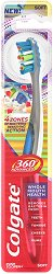 Colgate 360° Total Advanced Floss Tip Toothbrush - Четка за зъби за цялостна грижа за устната кухина -