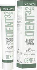 """Bioearth Dent32 Dentifricio Sbiancante Protettivo - Избелваща паста за зъби без флуорид от серията """"Dent32"""" -"""