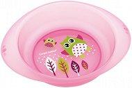 Розова купичка за хранене - Owls 320 ml - За бебета над 6 месеца -