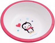 Розова купичка за хранене - Penguin 270 ml - За бебета над 4 месеца -