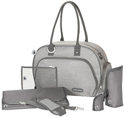 Чанта - Trendy Bag: Smokey - Аксесоар за детска количка с подложка за преповиване -