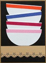 Поздравителна картичка - Купи за сервиране -
