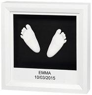 """Рамка за отливка - My Little Steps: White - Комплект от серия """"Timeless Classic"""" - продукт"""