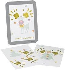 Рамка за отпечатък - Весела Коледа - Комплект с боя и стикери - продукт