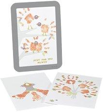Рамка за отпечатък - Подарък за мама - Комплект с боя и стикери -