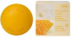 """Speick Wellness Soap Milk & Honey - Сапун с мед и мляко от серията """"Wellness"""" - продукт"""