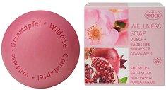 """Speick Wellness Soap Wild Rose & Pomegranate - Сапун с дива роза и нар от серията """"Wellness"""" - продукт"""