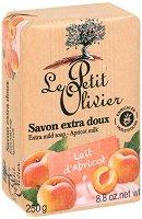 Le Petit Olivier Extra Mild Soap Apricot Milk - Нежен омекотяващ сапун с мляко от кайсия - пила