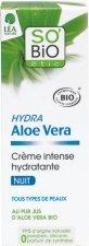 "SO BiO Etic Hydra Aloe Vera Moisturising Intensive Night Cream - Хидратиращ нощен крем за лице с био алое вера от серията ""Hydra Aloe Vera"" - серум"