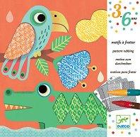 Оцветявай с пастели - Приятелите на Магали - Творчески комплект за рисуване - играчка