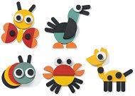 Животинки - Дървени фигурки за подреждане - творчески комплект