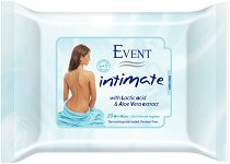 Event Intimate Wet Wipes - Интимни мокри кърпички с алое вера и млечна киселина - душ гел