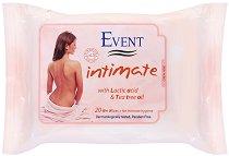 Event Intimate Wet Wipes - Интимни мокри кърпички с чаено дърво и млечна киселина - шампоан