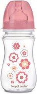 Розово шише с широко гърло - Newborn Baby 240 ml - Комплект със силиконов биберон за бебета над 3 месеца -