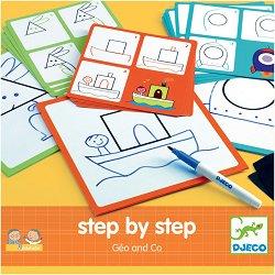 Рисувай стъпка по стъпка - Творчески комплект за рисуване - играчка